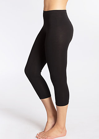 3/4 logo legs, black lady, Leggings, Schwarz