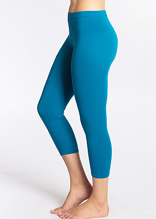 3/4 logo legs, blue seawater, Leggings, Blau