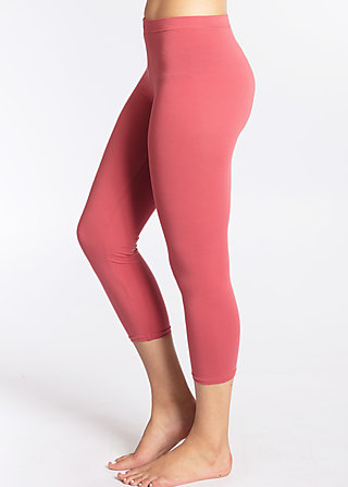 3/4 logo legs, rusty red, Leggings, Rot