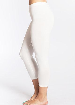 3/4 logo legs, white sparkling spume, Basics, Weiß