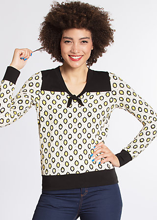adorable sailorette sweat, lloret des lemons, Pullover, Schwarz