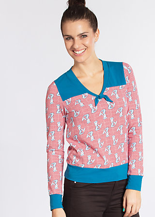 adorable sailorette sweat, missy meermaid, Pullover, Rot