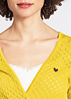 cache coeur cardy, yellow corn, Cardigans, Gelb