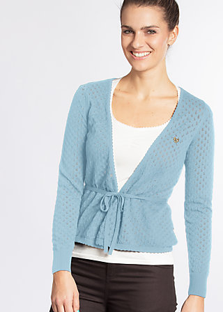 cache coeur cardy, light blue corn, Cardigans, Blau