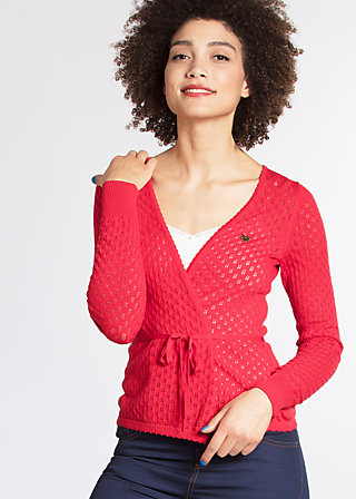 cache coeur cardy, red corn, Cardigans, Rot
