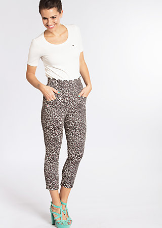 capri mädel cigarette , how leo like, Cloth pants, Braun