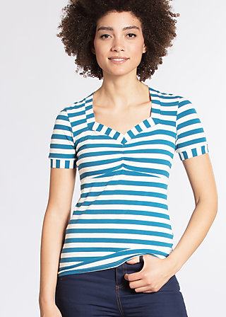 cheers my dears tee, swedish stripes, Kurzarm, Blau