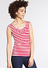 decolleté diva top, san diego stripes, Shirts, Rot