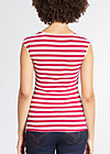 decolleté diva top, san diego stripes, Tops, Rot