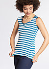 decolleté diva top, swedish stripes, Tops, Blau