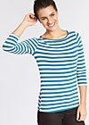 flotte marine biene shirt, swedish stripes, Shirts, Blau