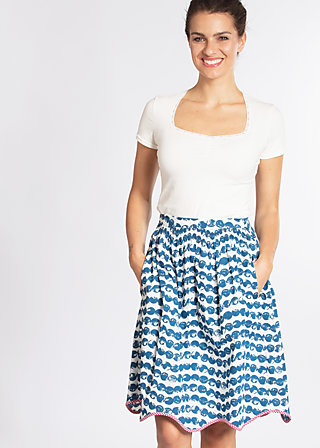 ice in the sunshine skirt , sail away, Woven Skirts, Blau