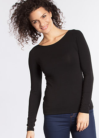 logo longsleeve, black lady, Shirts, Schwarz
