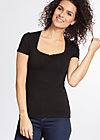 logo shortsleeved feminin , black lady, Shirts, Schwarz