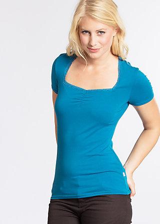 logo shortsleeved feminin , blue seawater, Shirts, Blau