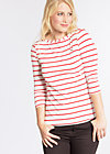logo stripe 3/4 sleeve, summer breeze stripes, Shirts, Weiß