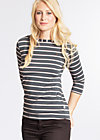 logo stripe 3/4 sleeve, summer night stripes, Shirts, Grau