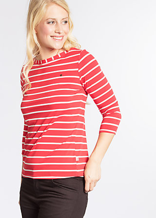 logo stripe 3/4 sleeve, summer red stripes, Shirts, Rot