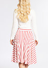 logo stripe circle skirt, summer breeze stripes, Röcke, Weiß