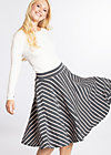 logo stripe circle skirt, summer night stripes, Skirts, Grau