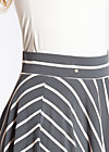 logo stripe circle skirt, summer night stripes, Röcke, Grau