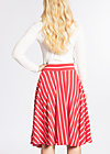 logo stripe circle skirt, summer red stripes, Skirts, Rot