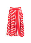 logo stripe circle skirt, summer red stripes, Röcke, Rot
