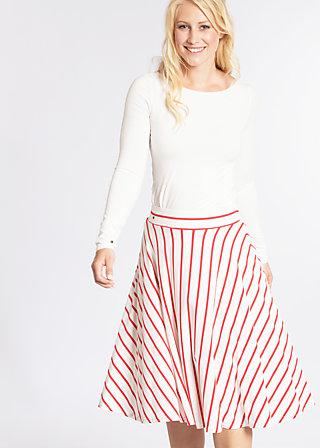 logo stripe circle skirt, summer breeze stripes, Skirts, Weiß
