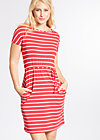 logo stripe dress, summer red stripes, Kleider, Rot