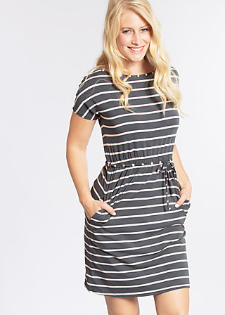 logo stripe dress, summer night stripes, Kleider, Grau