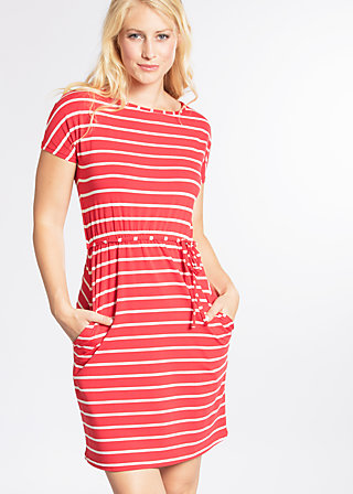 logo stripe dress, summer red stripes, Dresses, Rot