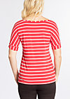 logo stripe t-shirt, summer red stripes, Shirts, Rot