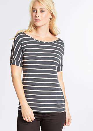 logo stripe t-shirt, summer night stripes, Shirts, Grau