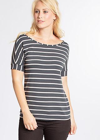 logo stripe t-shirt, summer night stripes, Shirts, Grau