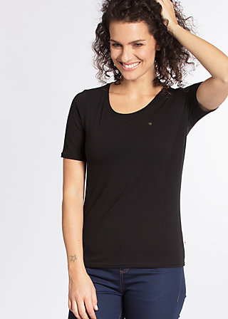 logo t-shirt, black lady, Shirts, Schwarz