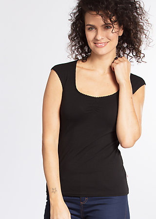 logo top, black lady, Shirts, Schwarz