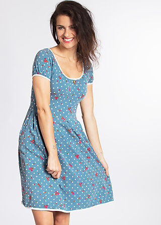 marylins cottage dress, mary rose, Jersey Dresses, Blau