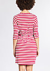 pure allure dress, san diego stripes, Jersey Dresses, Rot