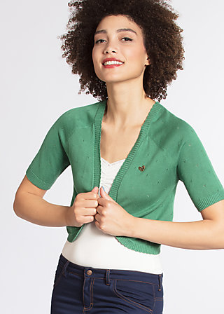 siesta sister bolero, green dotty, Short Jackets, Grün