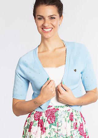 siesta sister bolero, light blue dotty, Cardigans, Blau