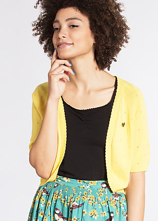 siesta sister bolero, yellow dotty , Short Jackets, Gelb