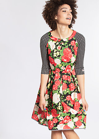 singing in the spring dress, la belle vie, Woven Dresses, Schwarz