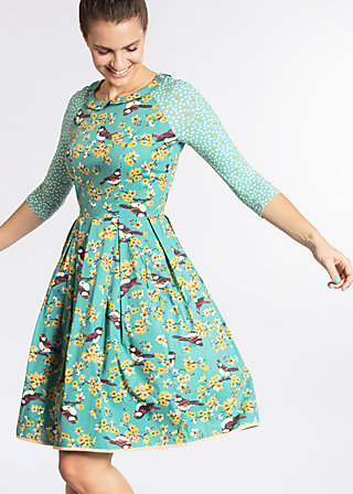 singing in the spring dress, spree sparrows, Woven Dresses, Blau