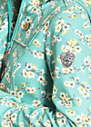 wild weather long anorak, blossom spring time, Softshell, Blau