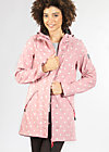 wild weather long anorak, marilyns dots, Softshell, Rosa