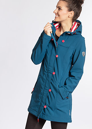 wild weather long anorak, anchor ahoi, Softshell, Blau