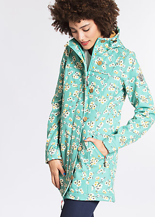wild weather long anorak, blossom spring time, Jacken, Blau