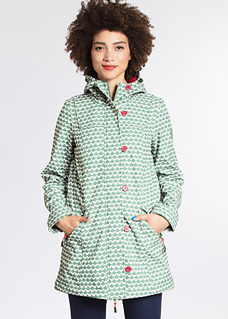 wild weather long anorak, venive wave, Softshell, Grün
