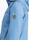 wild weather petite anorak, little dots, Softshell, Blau