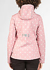wild weather petite anorak, marilyns dots, Softshell, Rosa